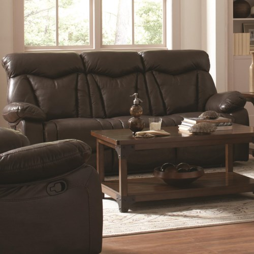 Coaster Zimmerman Reclining Sofa With Pillow Arms Coaster Fine Extraordinary Zimmermans Furniture Model