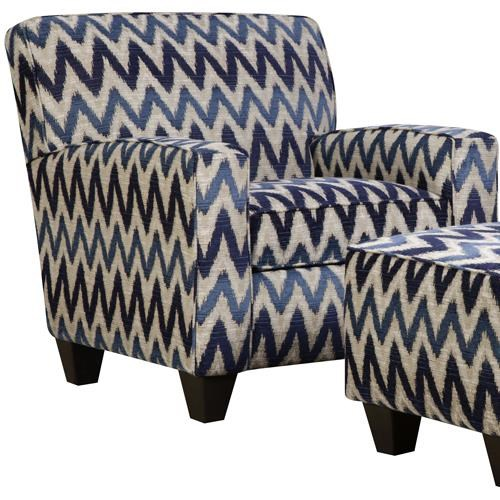 Corinthian 55A0 Casual Contemporary Contrast Accent Chair - Ivan Smith Furniture - Upholstered Chair