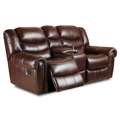 Corinthian 655 Motion Group Recline Console Loveseat With