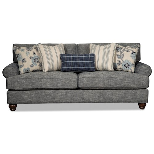 Craftmaster 773550 Traditional Sofa with Sock-Rolled Arms