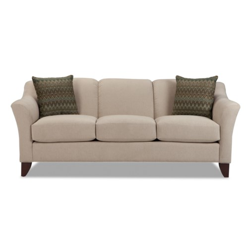 Hickory Craft 7844 Stationary Sofa With Flared Arms Godby Home Furnishings Sofa Noblesville