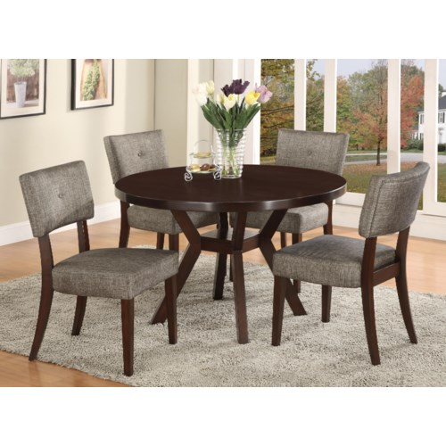 Crown Mark Kayla 5 Piece Dining Table and Chair Set