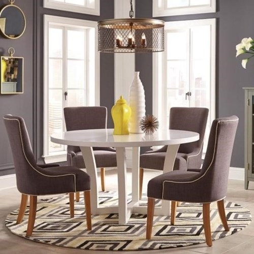 Donny Osmond Home Caprice White Round Table And