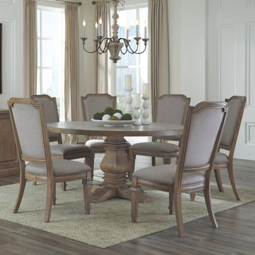 Donny Osmond Home Florence Round Table with Pedestal and Chair Set ...