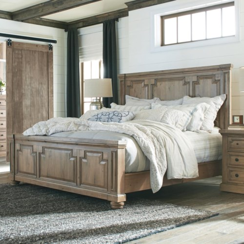 Donny Osmond Home Florence Panel King Bed with Column Design ...