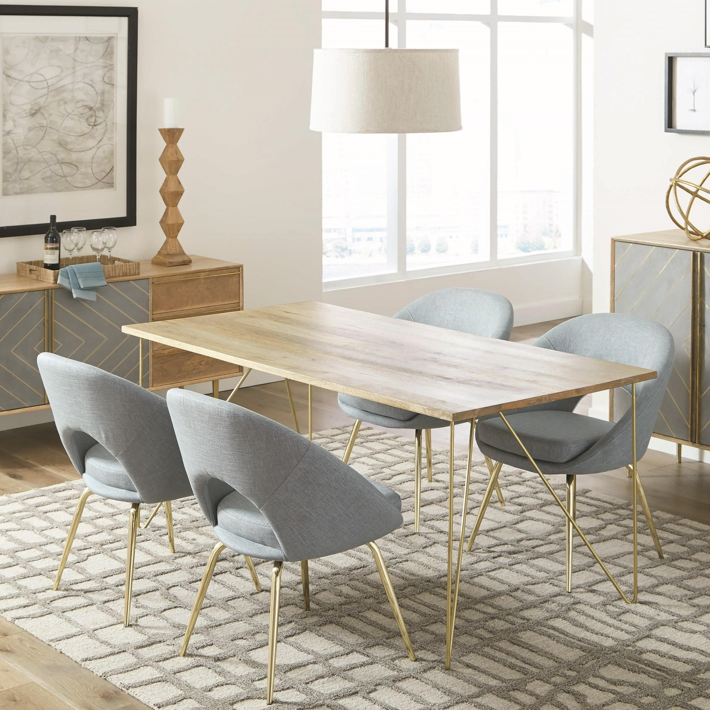 Donny Osmond Home Pennington Contemporary Table and Chair Set - Coaster Fine Furniture & Donny Osmond Home Pennington Contemporary Table and Chair Set ...