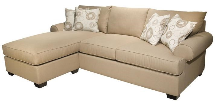 EJ Lauren Norton Sectional Sofa With Reversible Chaise Ottoman