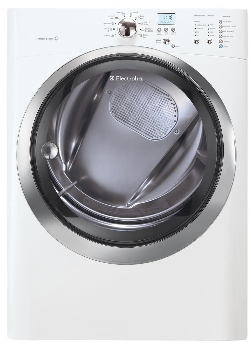 electrolux gas dryers 80 cu ft front load gas steam dryer with iq