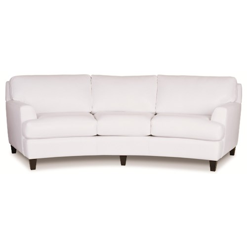 Elite Leather Seville Casual Contemporary Curved ...