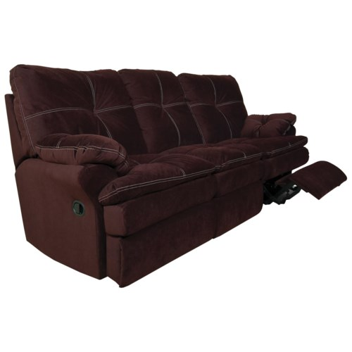 England Miranda and Lloyd  Double Reclining Sofa with Padded Chaise and Decorative Button Tufts