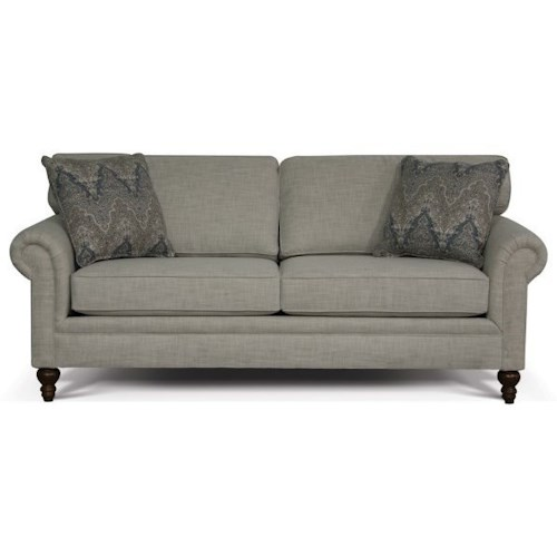England Renea Traditional Sofa with Panel Rolled Arms