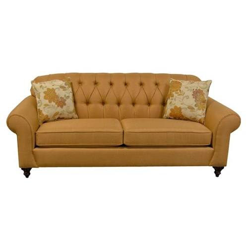 England Stacy Sofa with Tufted Seat Back