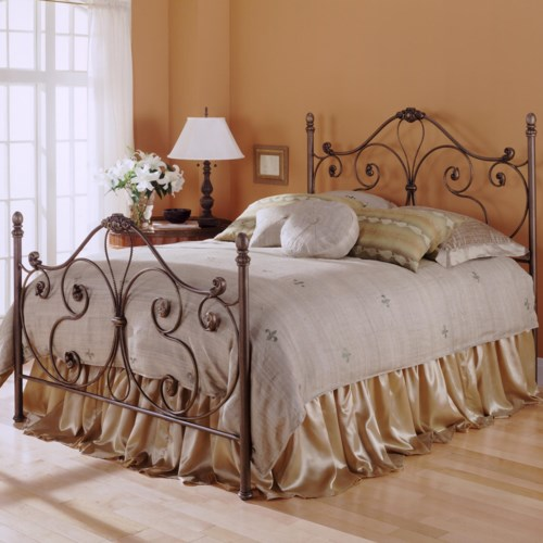 Fashion Bed Group Metal Beds California King Aynsley Metal Bed