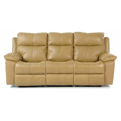 Flexsteel Butterscotch Power Reclining Sofa with Bustle Backs