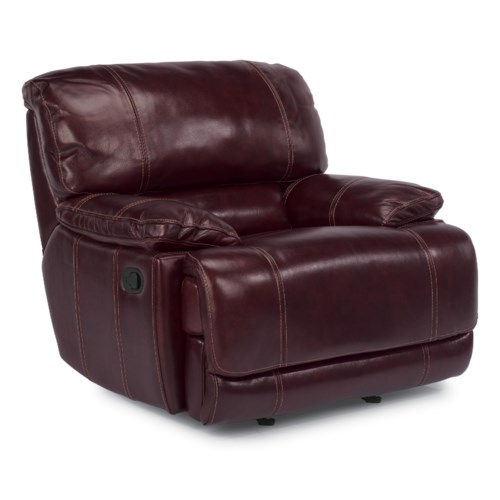 Flexsteel Latitudes - Belmont Glider Recliner with Pillow Arms