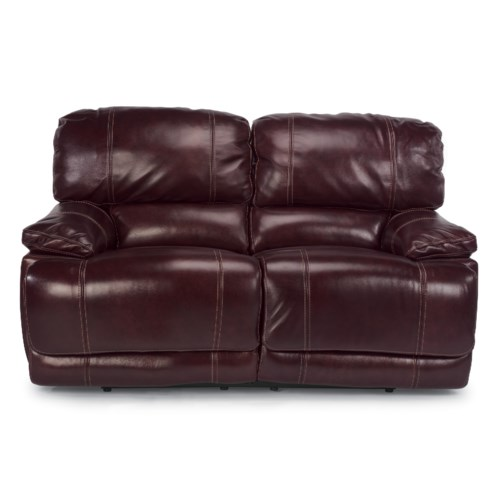 Flexsteel Latitudes - Belmont Reclining Love Seat with Pillow Arms
