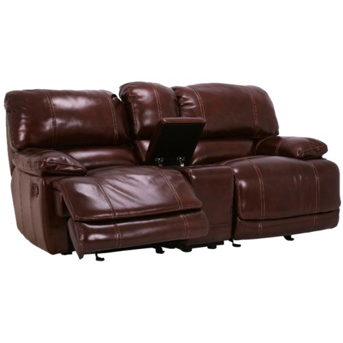 Flexsteel Latitudes - Belmont Dual Gliding Reclining Love Seat with Console