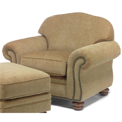 Flexsteel Bexley Traditional Style Chair with Nail Head Trim