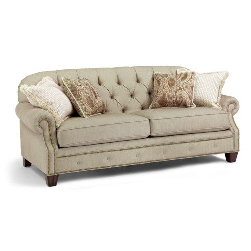 Flexsteel Champion Transitional Button Tufted Sofa With