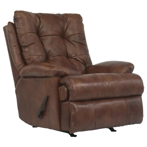 Flexsteel Latitudes - Clarke Casual Styled Recliner with Power and Tufted Seat Back