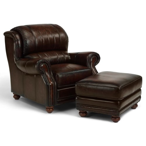 Flexsteel Latitudes - Dickenson Traditional-Style Chair and Matching Ottoman