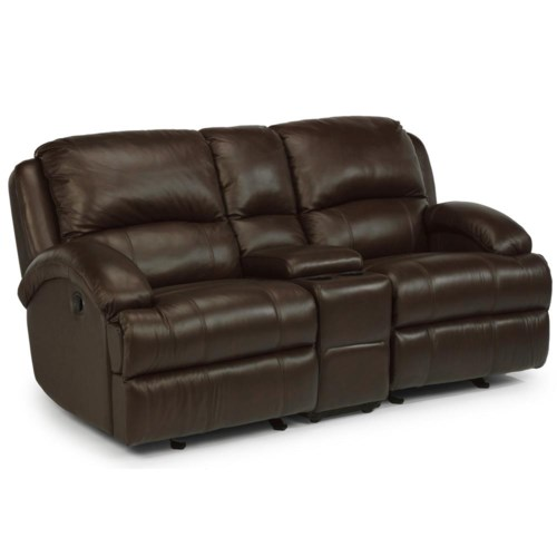 Flexsteel Latitudes - Fast Lane Rocking Loveseat with Console