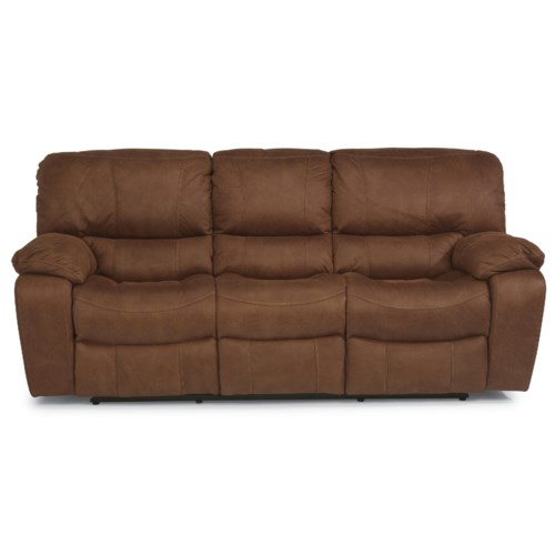 Flexsteel Latitudes - Grandview Reclining Sofa with Plush Pillowed Arms