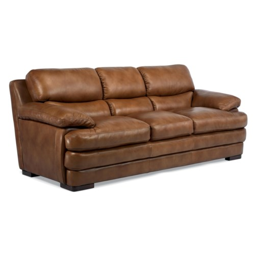 Flexsteel Latitudes Dylan Leather Stationary Sofa