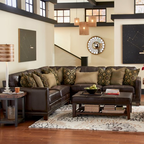 Living Room Furniture Ct: Port Royal Three Piece Sectional