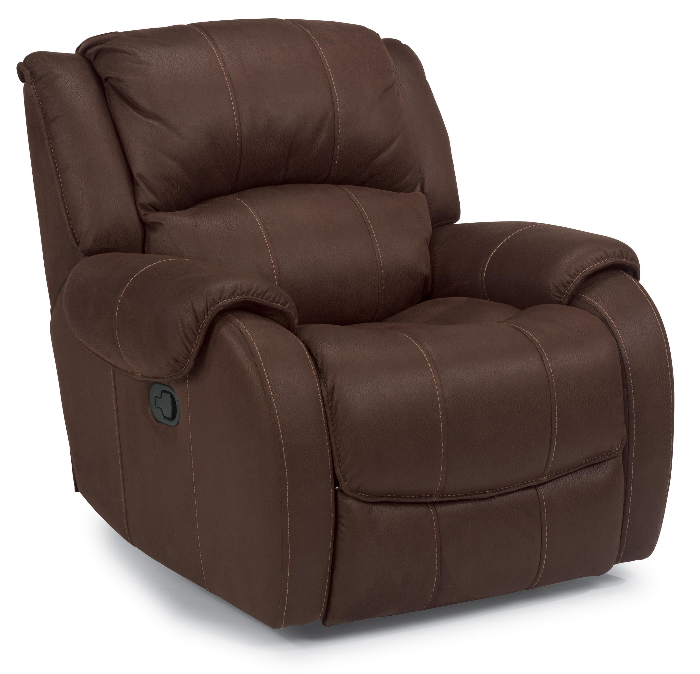 Flexsteel Latitudes -Pure Comfort Power Motion Recliner with Pillow Top Arms - Furniture and ...