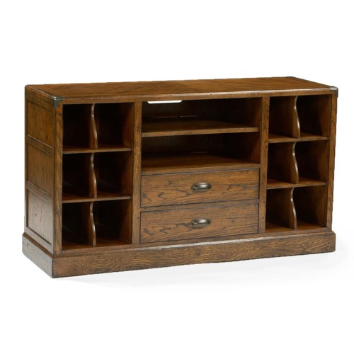 Flexsteel Storehouse Hall Chest and Estagere Bookcase