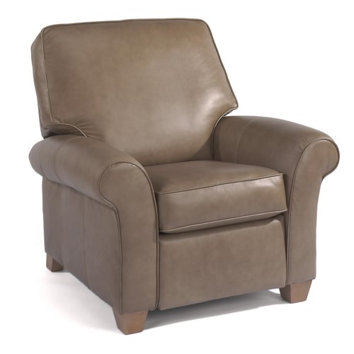 Flexsteel Vail Leather High Leg Recliner