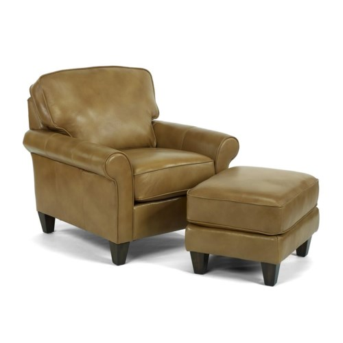 Flexsteel Westside Casual Style Chair and Ottoman