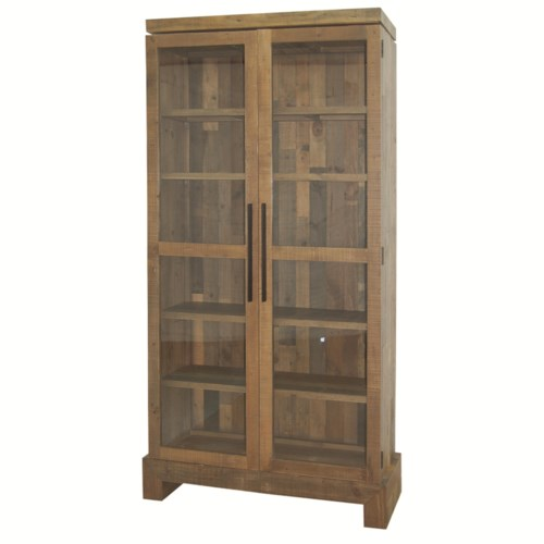 SDI6 Sierra Enclosed Camino Bookcase with Glass Doors