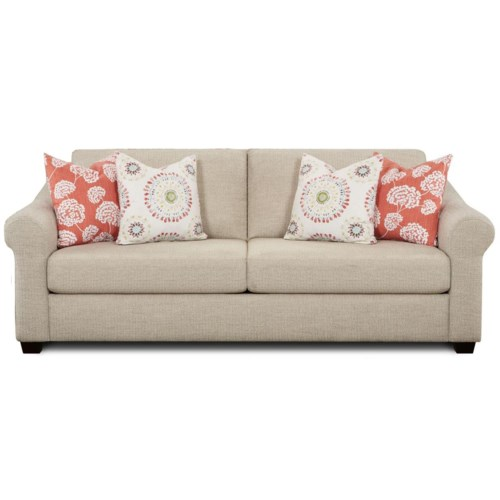 Fusion Furniture 3800 Sofa With Rolled Arms