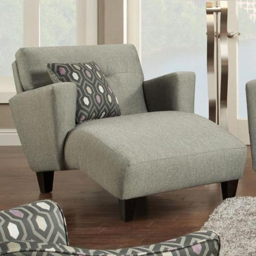 Fusion Furniture 8210 Contemporary Chaise Regency