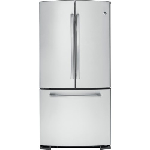 Ge Appliances 227 Cu Ft French Door Refrigerator With Ice Maker
