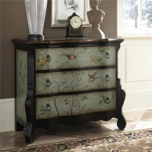 Hammary Hidden Treasures Accent Chest with Delicate Handpainting