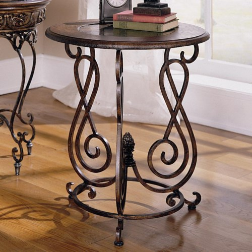 Hammary Hidden Treasures Accent Table with Curvy Base
