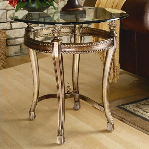 Hammary Suffolk Bay End Table With Gl Top