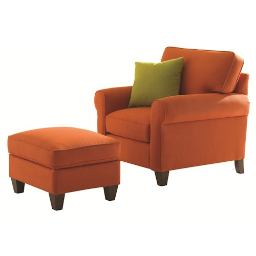 HGTV Home Furniture Collection Greenwich  Casual Styled Chair and Ottoman Set