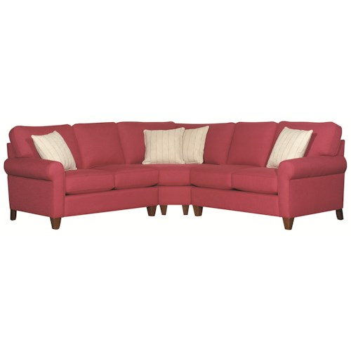 HGTV Home Furniture Collection Greenwich  Casual Styled Greenwich 3 Piece Sectional