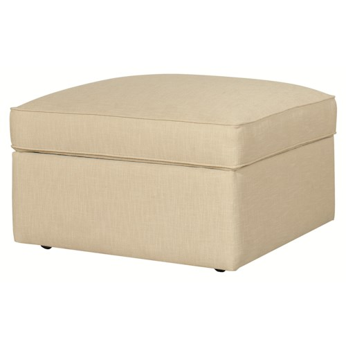 HGTV Home Furniture Collection Greenwich  Casual Styled Greenwich Storage Ottoman with Casters