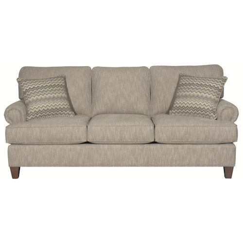 HGTV Home Furniture Collection Sutherland Traditional Styled Sutherland (3 cushion) Sofa