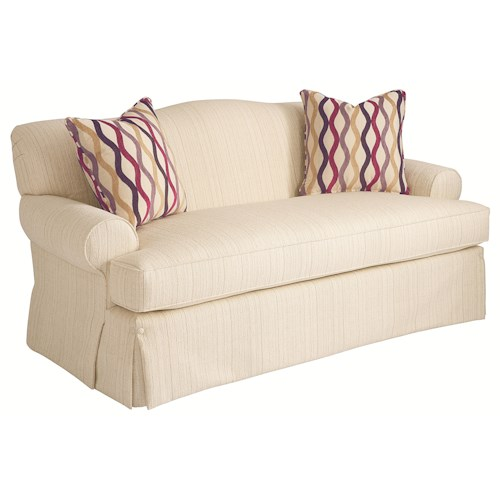HGTV Home Furniture Collection Upholstery  Contemporary Chic Camel Back Sofa with Classic Furniture Influences