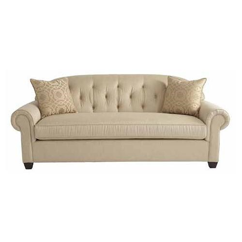 HGTV Home Furniture Collection Upholstery  Wilshire Sofa with Traditional Den Room Style Tufted Seat Back and Rolled Arms
