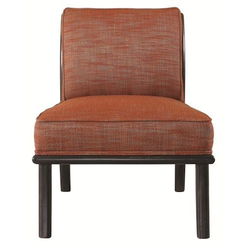 HGTV Home Furniture Collection Upholstery  Roxy Chair with Exposed Wood Frame and Contemporary Style