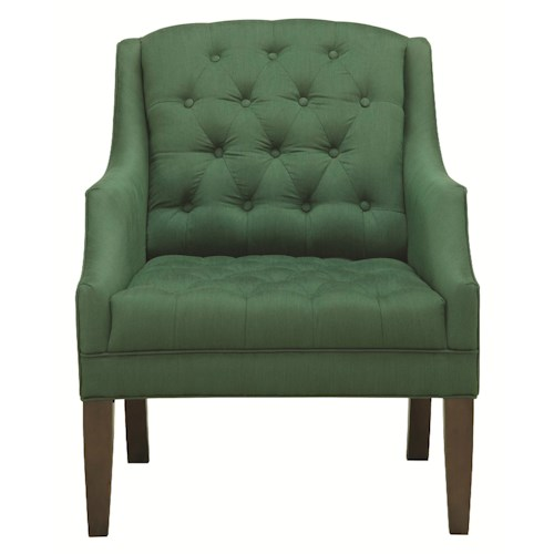 HGTV Home Furniture Collection Upholstery  Churchill Chair with Traditional Furniture Style and Tufted Seat and Back Cushion