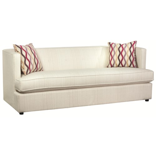 HGTV Home Furniture Collection Upholstery  Diva Divine Modern Sofa with Tuxedo Back and Sleek Contemporary Style