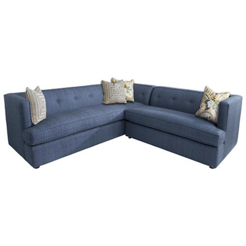 HGTV Home Furniture Collection Upholstery  Diva Divine Sectional Sofa with Contemporary Style and Classic L Sectional Sofa Shape